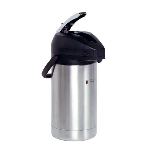 BUNN 32130.0000 3.0-Liter Lever-Action Airpot, Stainless Steel - Thermal Carafes