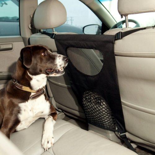 Pet Barrier, Dog Car Barrier Seat Mesh Obstacle, Oxford Cloth Dog Backseat Barrier Adjustable Divider to Keep Driver Safety, Easy to Install for Car, SUV, Truck (Black) - Dog Car Barriers