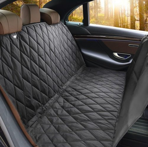 Pet Seat Cover, Lifepul (TM) Dog Seat Cover For Cars Anti Slip In Large Size - Perfect For Cars, SUVs and Trucks In Universal Size, Water Proof& Hammock Convertible, Installing Easily - Dog Car Barriers