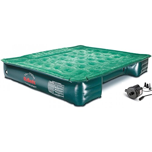 "AirBedz Lite (PPI PV202C) Full-Size Short and Long 6'-8' Truck Bed Air Mattress with DC Corded Pump (76""x63""x12"" Inflated)"
