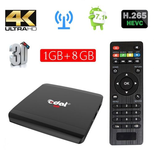 7. Edal R1 Android 6.0 1GB/8GB Smart TV BoxRockchip RK3229 Quad-core Cortex A7 1.5GHz 32bit4K2K Support 802.11 b/g/n, 2.4G
