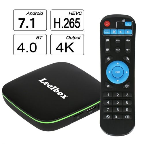 2020 Version Leelbox Q1 Android 6.0 TV Box with BT 4.0Supporting 4K (60Hz) Full HD /H.265 /WiFi
