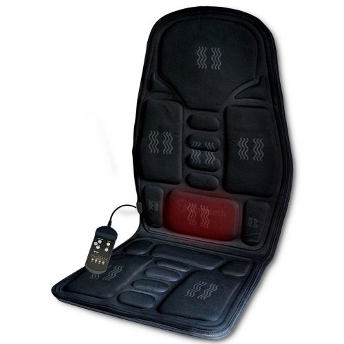 Zone Tech 2-in-1 Car Seat Cushion - Black Premium Quality 12V Automotive Adjustable hi Temperature Comfortable Heating, 8 Function Massaging Car Seat Cushion
