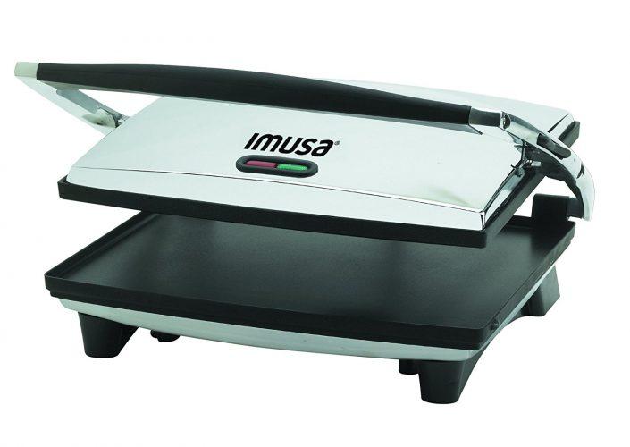 IMUSA USA GAU-80102 Large Electric Panini Press1400-Watts, Silver: