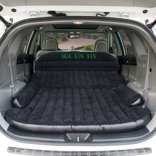 HUAXINXIN SUV Air Mattress Camping Bed, Outdoor SUV Dedicated Mobile Cushion Extended Travel Mattress Air Bed Inflatable for SUV Back Seat, Swimming Sea Beach, Holiday, Fit 95%SUV black