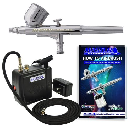 Master Airbrush MAS KIT-VC16- B22 Portable Mini Airbrush Air Compressor Kit