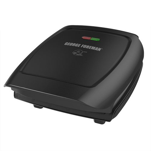 George Foreman 4-Serving Classic Plate Electric Indoor Grill and Panini Press, Black, GR2060B-Panini Makers