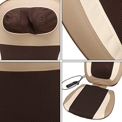 Shiatsu Massage Cushion to Relieve Muscle Tension, Electric Car Seat Heated Kneading Massager Back Neck Shoulder Thigh Body