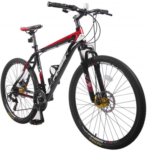 Merax Finiss 26''; Aluminum 21 Speed Mountain Bike with Disc Brakes-mountain bikes
