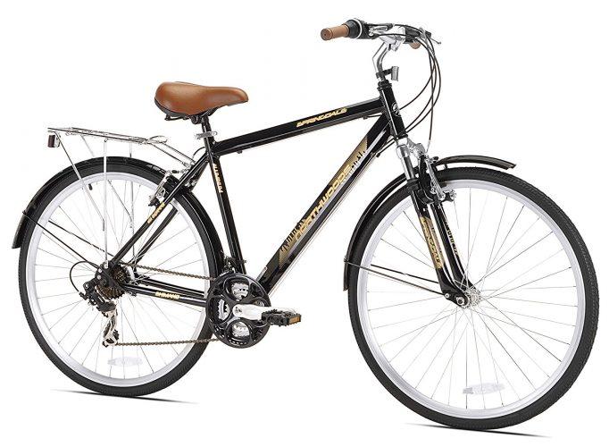 Northwoods Mens Crosstown 21 Speed Hybrid Bicycle, Black