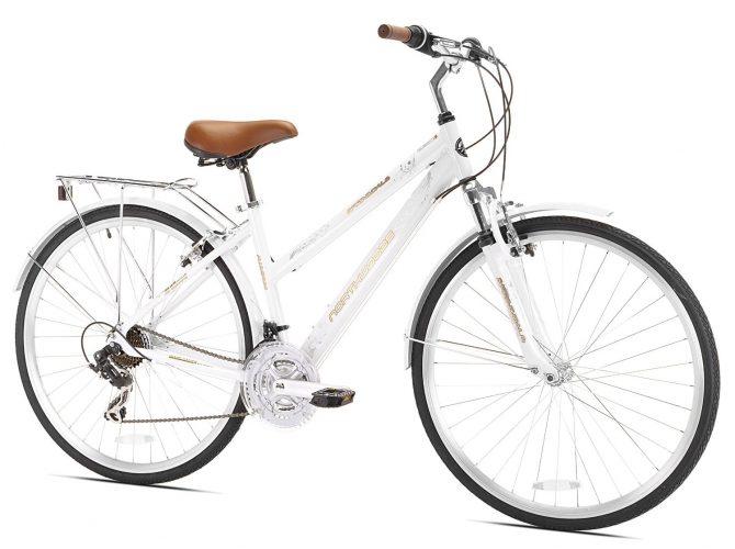 Northwoods Ladies Crosstown 21 Speed Hybrid Bicycle, White