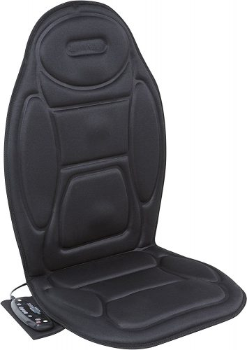 Relaxzen 60-2926XP 5-Motor Massage Seat Cushion with Heat, Black