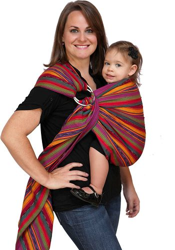 Maya Wrap Lightly Padded Ring Sling Baby Carrier