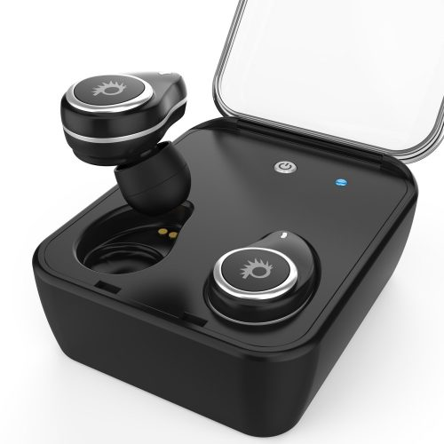 PunBuds True Wireless Earbuds Mini Bluetooth Headphones W/Charging Case & built-in Noise Cancelling Mic for iPhone and Android Great for Running & Sport Small, Discreet & Secure