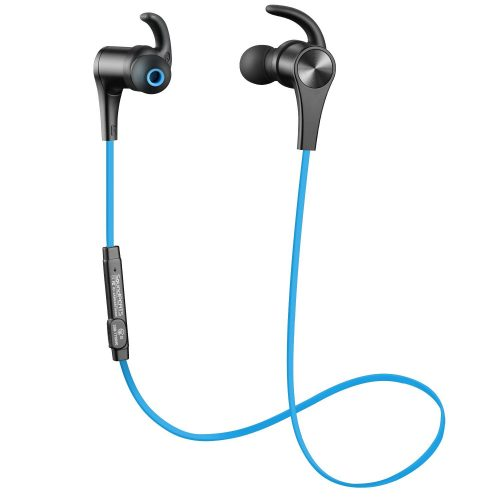 SoundPEATS Bluetooth Headphones In Ear Wireless Earbuds 4.1 Magnetic Sweatproof Stereo Bluetooth Earphones for Sports With Mic (Upgraded 7 Hours Play Time, Secure Fit, Noise Cancelling)