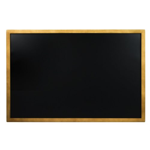 Porcelain Steel Magnetic Chalkboard Menu Sign Board with Vintage Wooden Frame & Hangers for Use With Chalk Markers