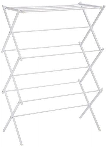 AmazonBasics Foldable Drying Rack – White