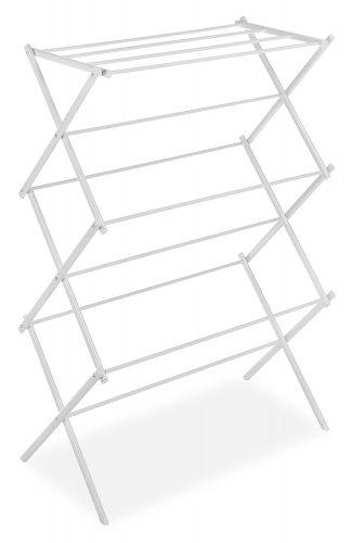 Whitmor Folding Clothes Drying Rack, White