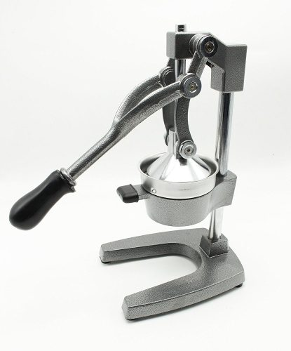 Commercial Manual Citrus Juicer By KP Solutions | Durable Medical Stainless Steel Construction With Lever | Ergonomic Grip, Sturdy Iron Base | Ideal For Pomegranates, Limes, Oranges, Lemons & More