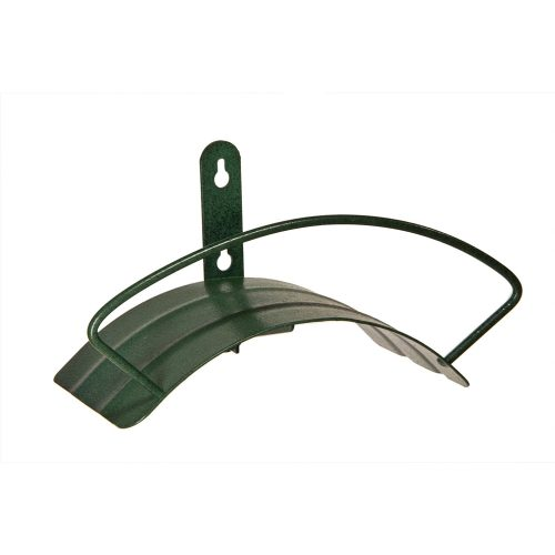 Yard Butler Deluxe Heavy Duty Wall Mount Hose Hanger Easily Holds 125' Of 5/8' Hose Solid Steel Extra Bracing And Patented Design In NEW COLORS and DECORATIVE DESIGNS IHCWM-1 Textured Forest Green-garden hose stand