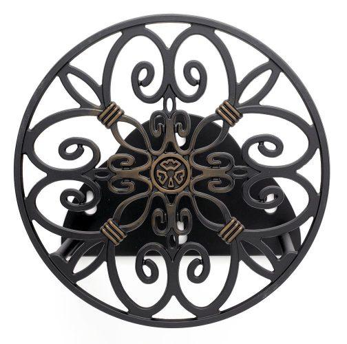 Liberty Garden Products 670 Wall Mount Decorative Garden Hose Butler, Holds 125-Feet of 5/8-Inch Hose – Bronze