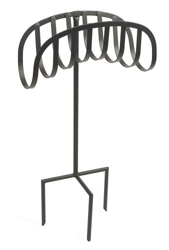 Liberty Garden Products 647 Manager Style Metal Garden Hose Stand, Holds 125-Feet of 5/8-Inch Hose – Black