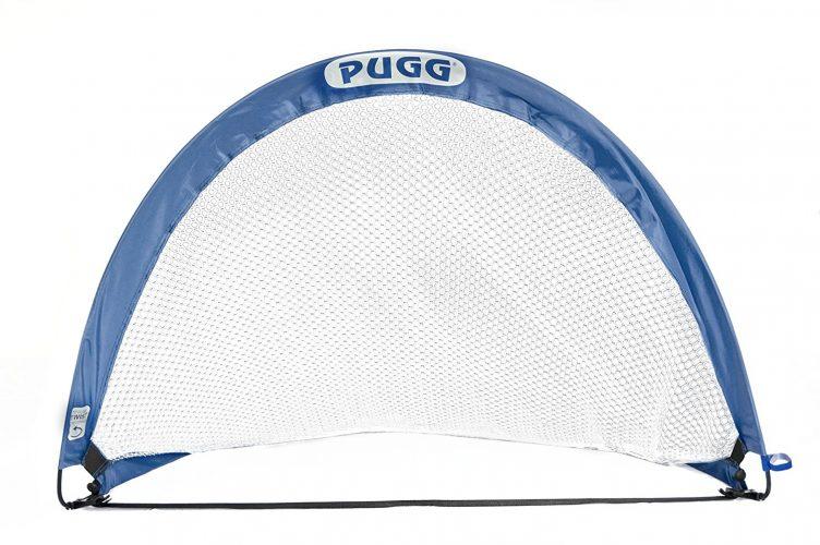 PUGG 4 Foot Pop Up Soccer Goal | Portable Training Futsal Football Net | the Original Pickup Game Goal (2 Goals and Bag)