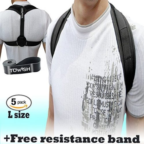 Adjustable Posture Corrector Brace - Comfortable Back Support - Improve Shoulder Clavicle Alignment or Bad Slouching for Women Men &Kids L Size by TOWISH