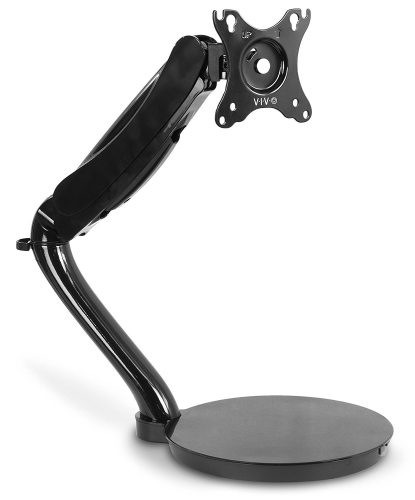 "VIVO Black Height Adjustable Counterbalance Free-Standing Deluxe Gas Spring Arm Mount Tabletop Stand for 13"" - 27"" Screen (STAND-V001R)"