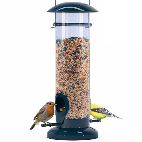 Weather Proof Anti-Bacterial Bird Feeder with UV Sun-proof Anti-Bacterial Coating. Durable and Disassembles for Quick, Easy Cleaning