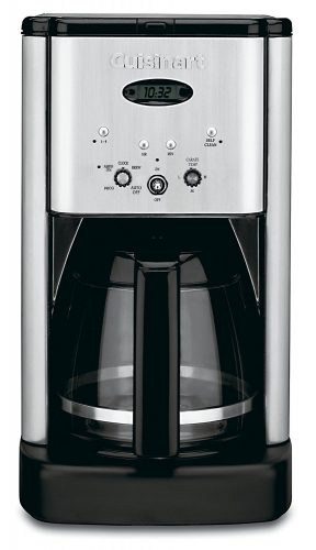 DCC-1200 Brew Central 12 Cup Programmable Coffeemaker, Black/Silver