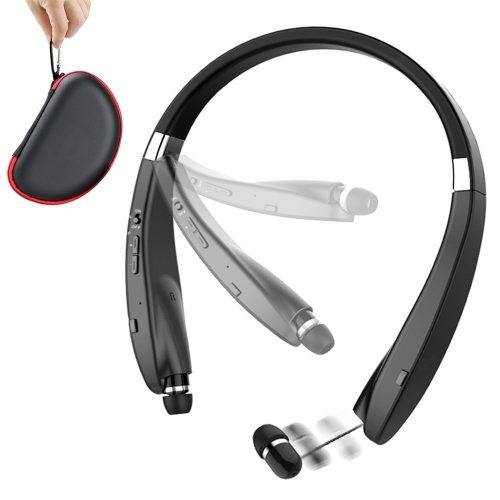 Foldable Bluetooth Headset, URWILL Wireless Neckband Sports Headphones with Retractable Earbuds, Bluetooth Sweatproof 4.1 Stereo Earphones Built-in Mic, Handsfree Calling Bluetooth Devices