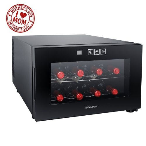 Emerson FR948BK 8 Bottle Wine Cooler, Black