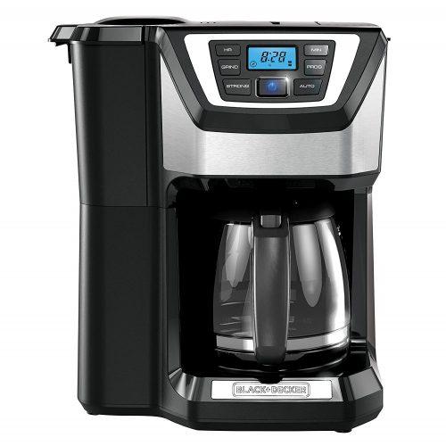 BLACK + DECKER 12- Cup Mill and Brew Coffeemaker, Black, CM5000B