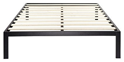Zinus Modern Studio 14 Inch Platform 3000 Metal Bed Frame/Mattress Foundation/no Boxspring needed/Wooden Slat Support/Good Design Award Winner, Queen