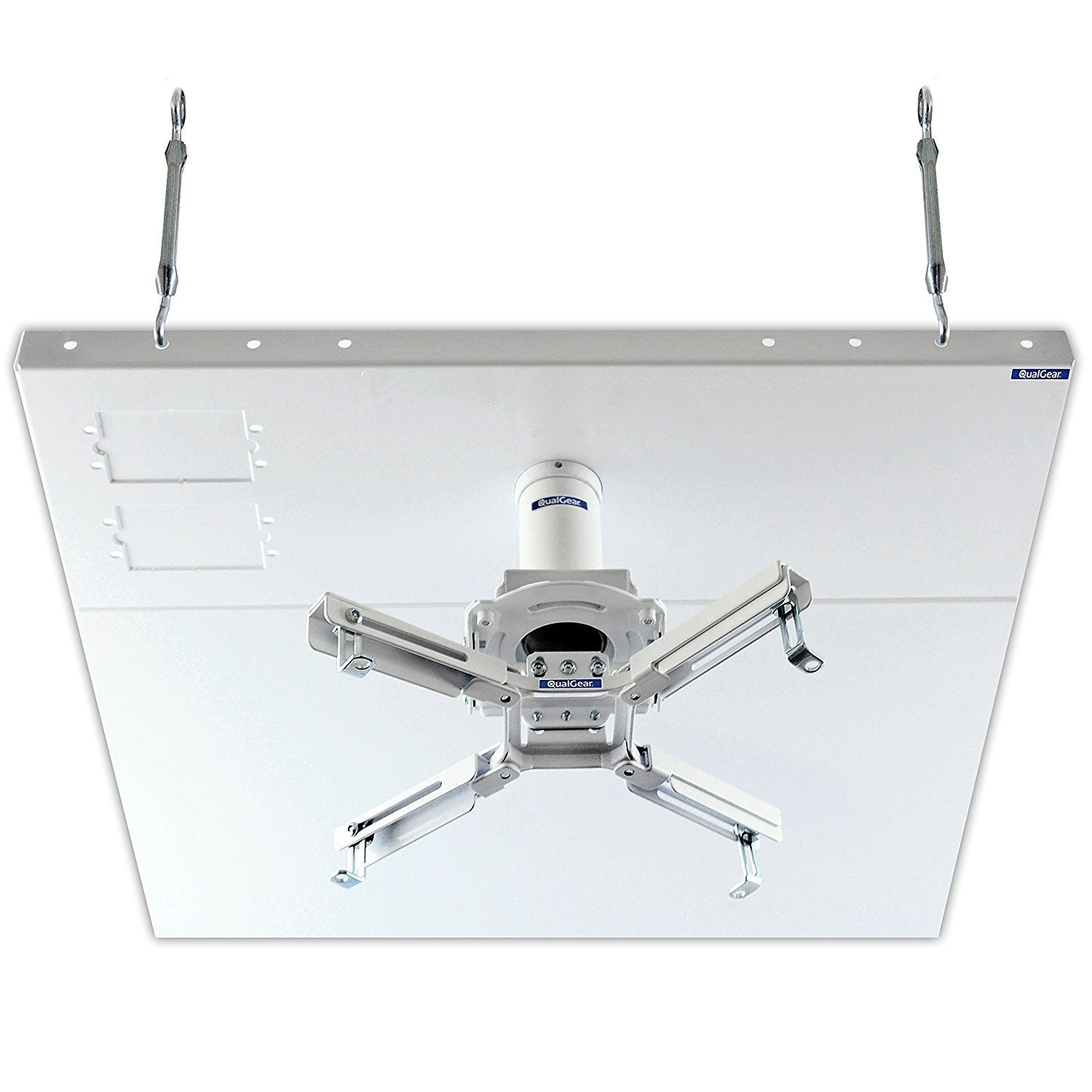 QualGear Pro-AV QG-KIT-S2-3IN-W Projector Mount Kit Accessory Suspended Ceiling 2'x2' Adapter, White