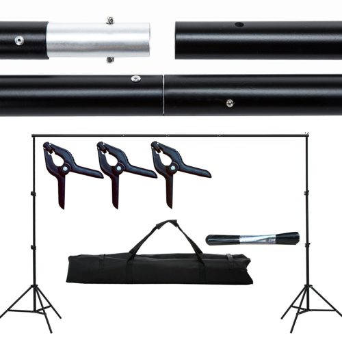 SUNCOO 10Ft Photography Background Support Stand Photo Backdrop Crossbar Kit Adjustable