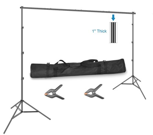 Emart 10 x 12ft (H X W) Photo Backdrop Stand Kit, Adjustable Photography Video Studio Background Stand Support System for Photo Booth Muslin