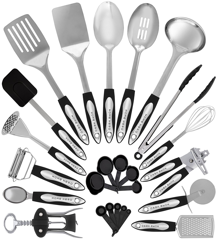 Stainless Steel Kitchen Utensil [Set of 25 cooking Utensils]