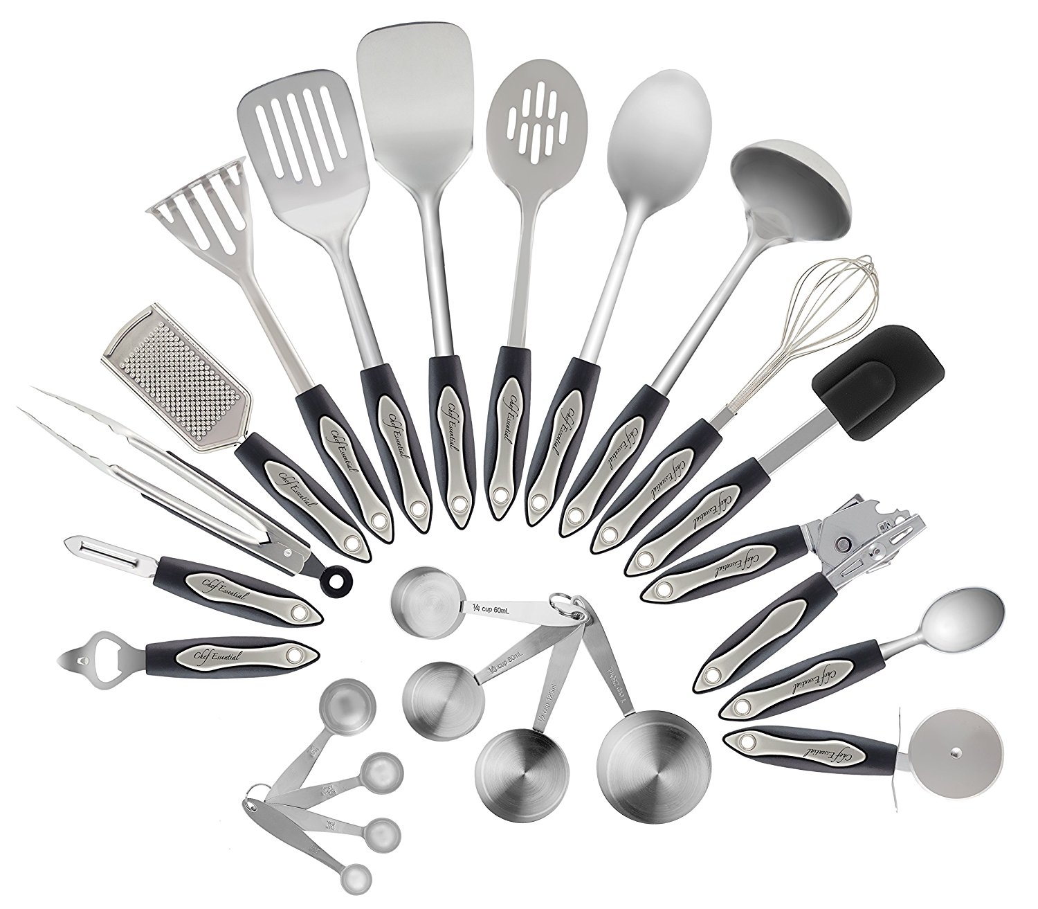 Stainless Steel Kitchen Utensils Set 23 Pc