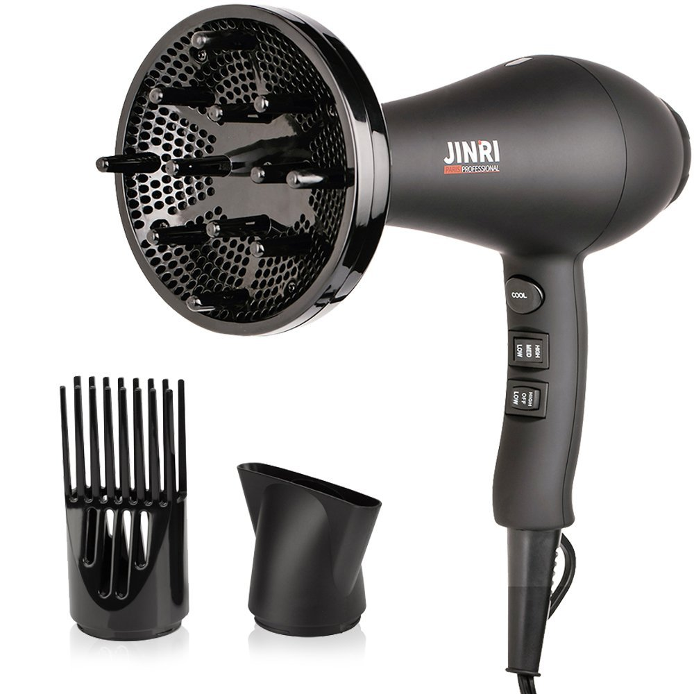 JINRI Professional Hair Blow Dryer,1875W Ionic Hair Dryer, Salon AC Motor Low Noise Blow Dryer with Concentrator