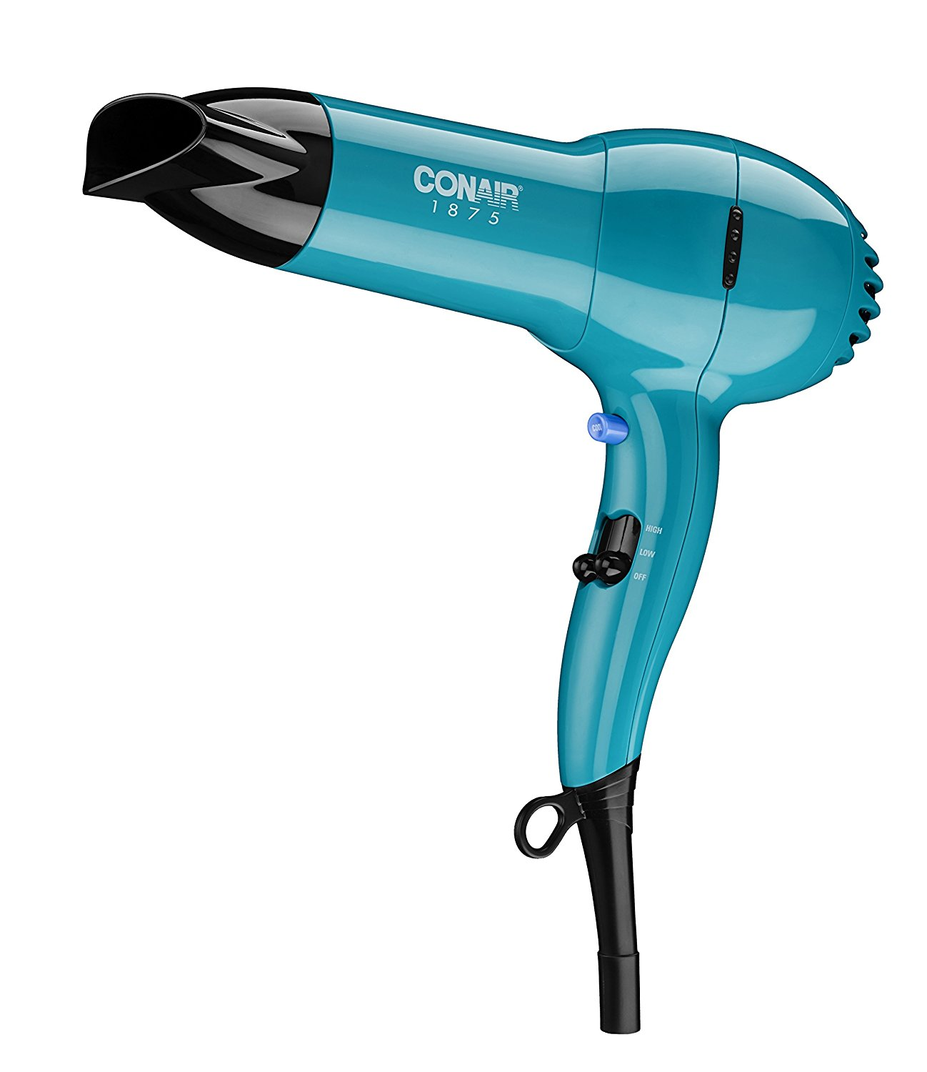 Conair 1875 Watt Full Size Pro Hair Dryer with Ionic Conditioning; Teal - Amazon Exclusive - Hair Dryer for Men