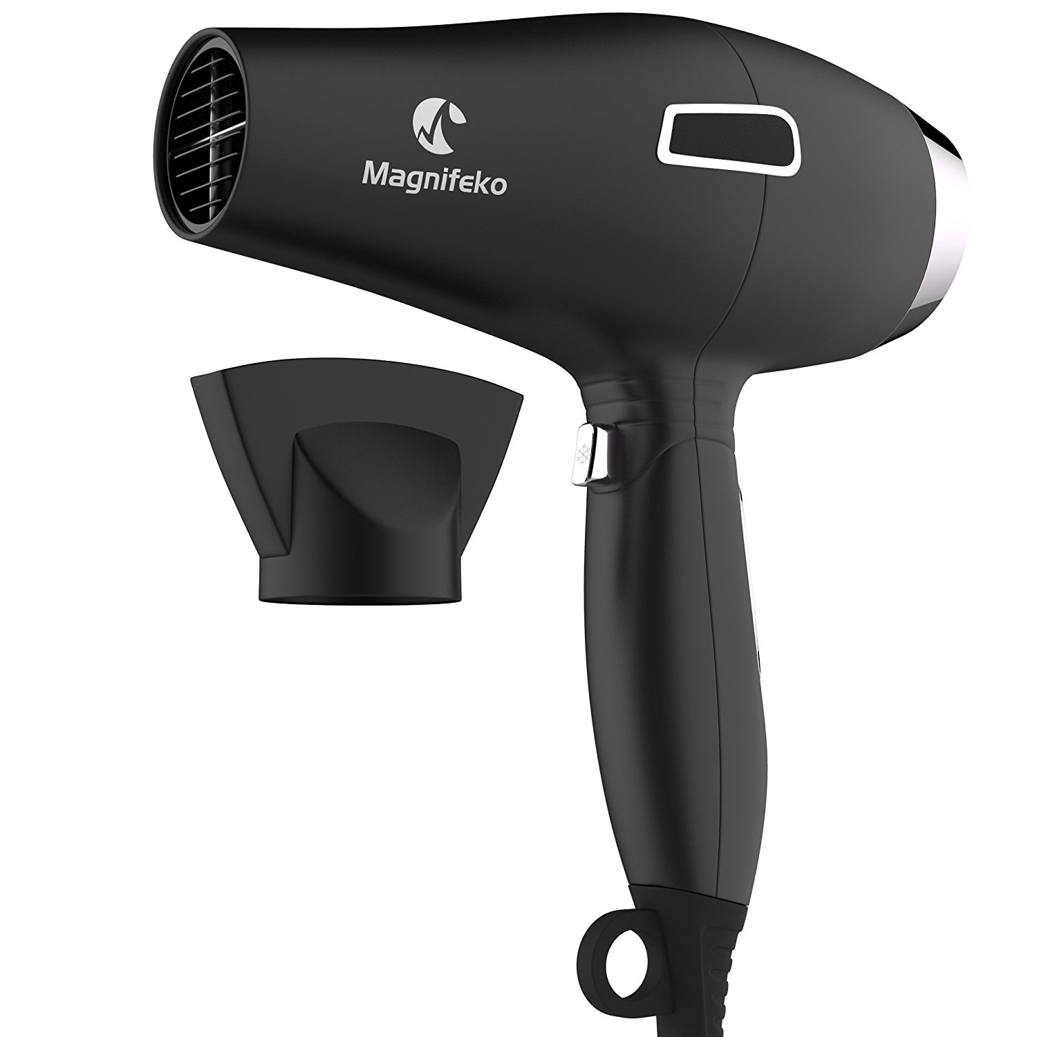 Ionic Hair Dryer | Anti-Frizz Blow dryer with Extra-Fast 1875W Motor and Concentrator Nozzle | Professional Hairdryer for Men and Women