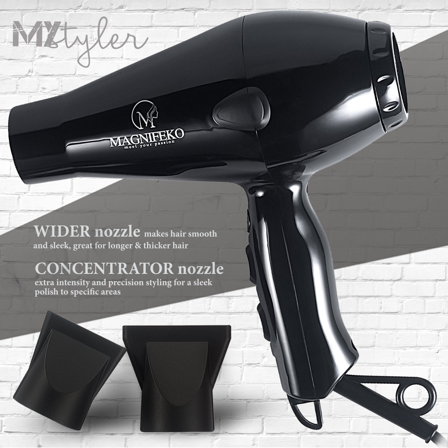 ionic hairdryer Professional Hair Dryer 1875W Blow Dryer Fast Drying for healthy and shiny, non-frizzy hair