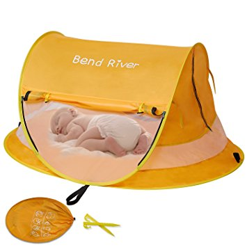 Bend River Large Baby Tent, Portable Baby Travel Bed, UPF 50+ Infant Beach Sun Shelter, Popup Toddler Mosquito Net (No Pad) - BEACH INFANT TENTS - Beach Infant tent