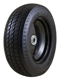 "Marathon 4.80/4.00-8"" Pneumatic (Air Filled) Tire on Wheel, 6"" Hub, 5/8 Bearings, Ribbed Tread"