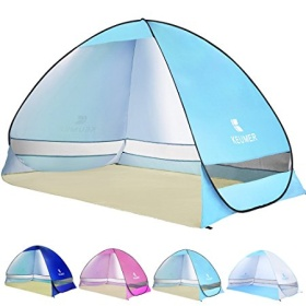 Ylovetoys Pop Up Beach Tent, 3 Persons Instant Beach Tents Waterproof Anti-UV Sun Shelter Cabana Beach Shade Easy Setup Family Camping Tent for Beach touring Fishing Hiking or Picnic
