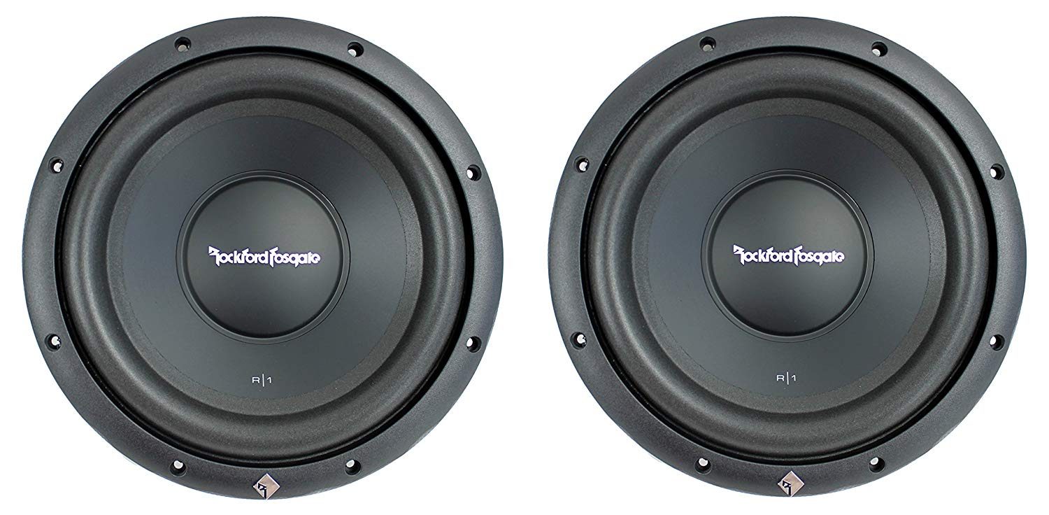 "(2) Rockford Fosgate R1S4-10 Prime 10"" 800 Watt 4 Ohm Car Audio Subwoofers Subs"