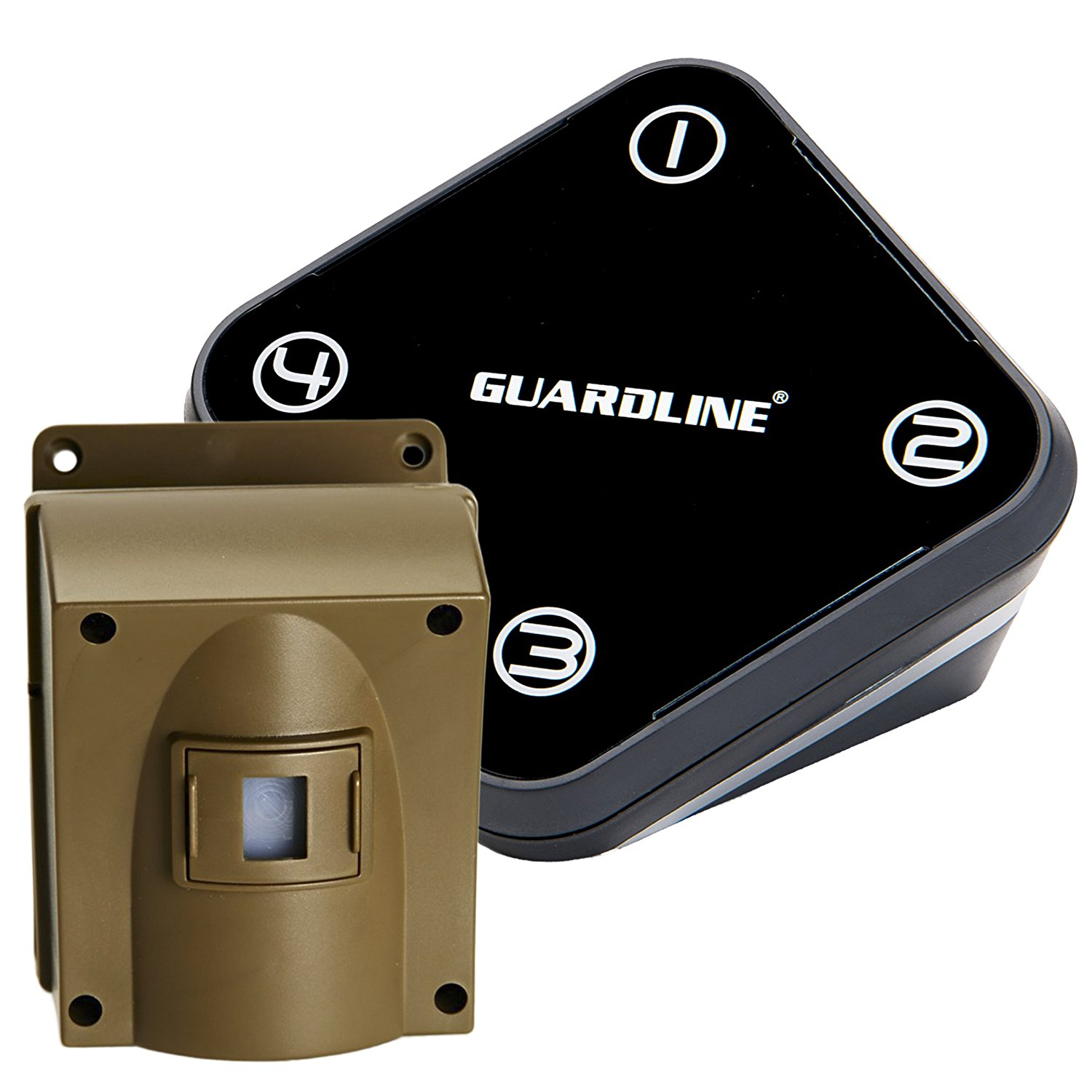 Guardline Wireless Driveway Alarm- Top Rated Outdoor Weatherproof Motion Sensor & Detector- Best DIY Security Alert System- Stay Safe & Protect Home, Outside Property, Yard, Garage, Gate, Pool