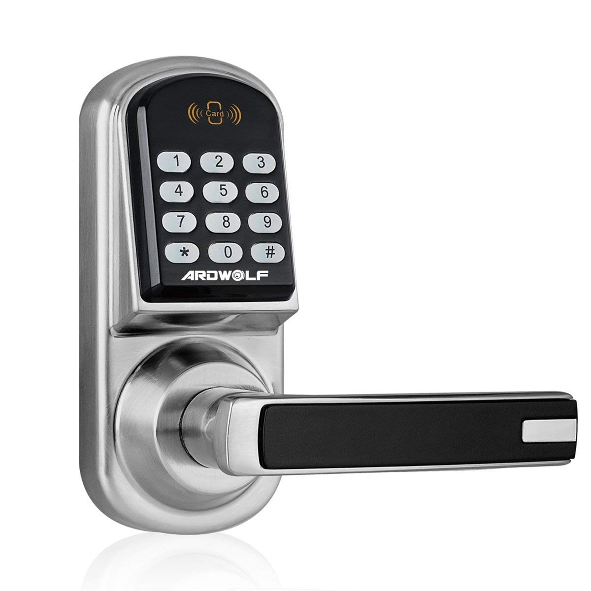 Ardwolf A30 Keyless Smart Door Lock Keypad, with Reversible Lever and Automatic Locking
